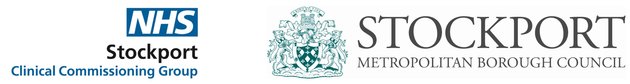 Stockport Council Logo and CCG Logo Banner